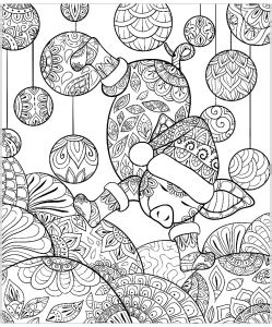 pigs coloring pages for adults