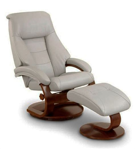 oslo mandal 2 swivel recliner putty leather alpine
