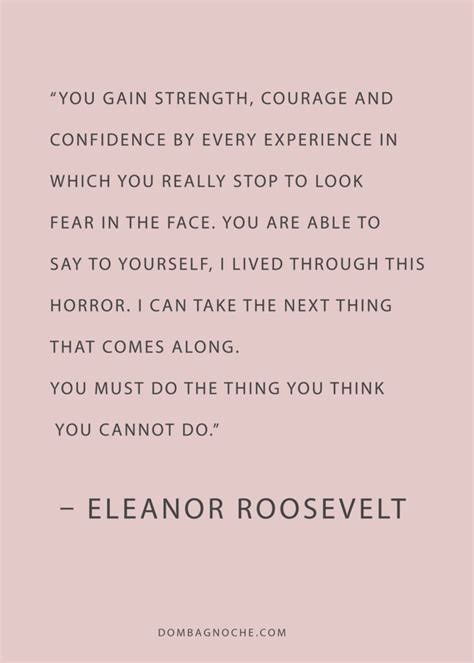 Eleanor Roosevelt Quotes Life Experience
