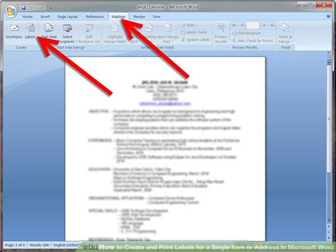 how to create and print labels for a single item or address in microsoft word