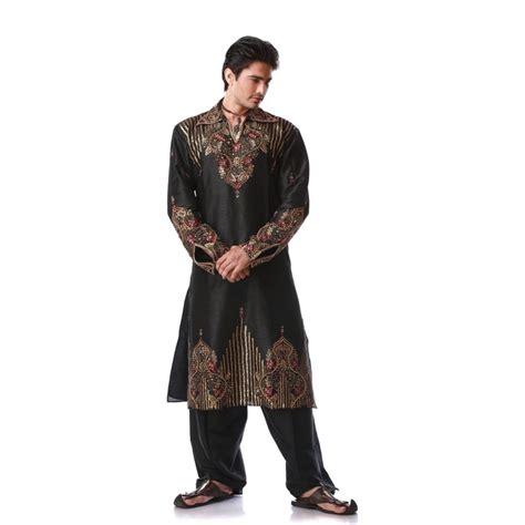 ustensiles de cuisine chinois tenue indienne orientale noir et bien brodé pour homme