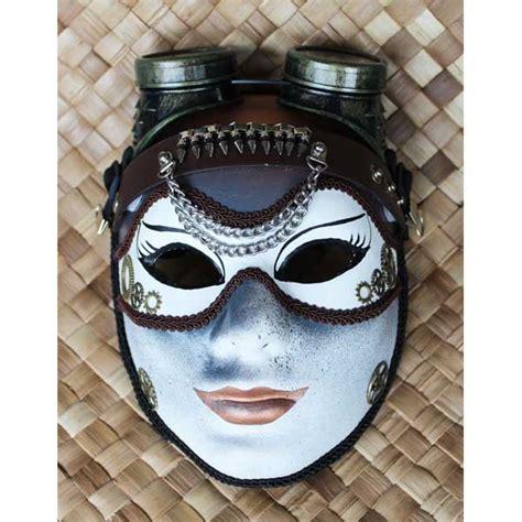 steampunk mask  detachable steampunk goggles