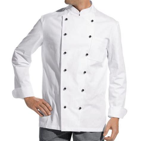 chemise de cuisine veste de cuisine manches longues 100 coton boutons boule