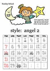 printable christian cards printable christian calendar With sunday school calendar template