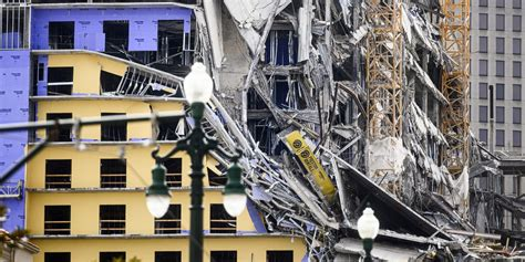 hard rock hotel collapse  downtown  orleans