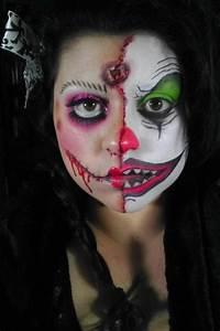 killer clown Halloween face make up idea