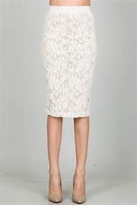 Lace Pencil Skirt white   Lace   Pinterest