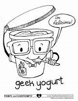 Coloring Pages Funny Yogurt Cartoon Cool Printable Geek Easy Preschool Really Sheets Contest Adults Greek Books Win Hearts Fun Laserbeams sketch template