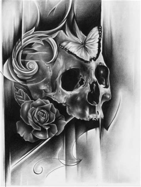 Skull Flower Butterfly Awesome Tattoos Like