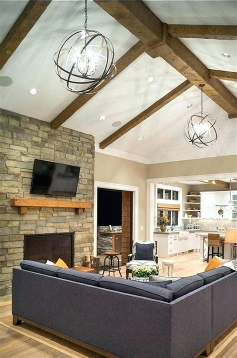 vaulted ceiling lighting fixtures vaulted ceiling living