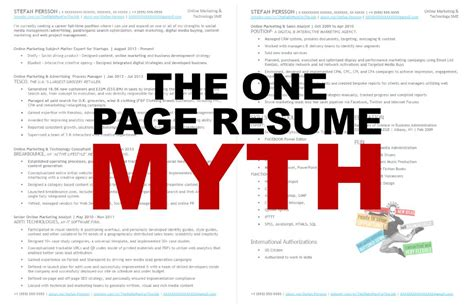 how many pages your resume should be management