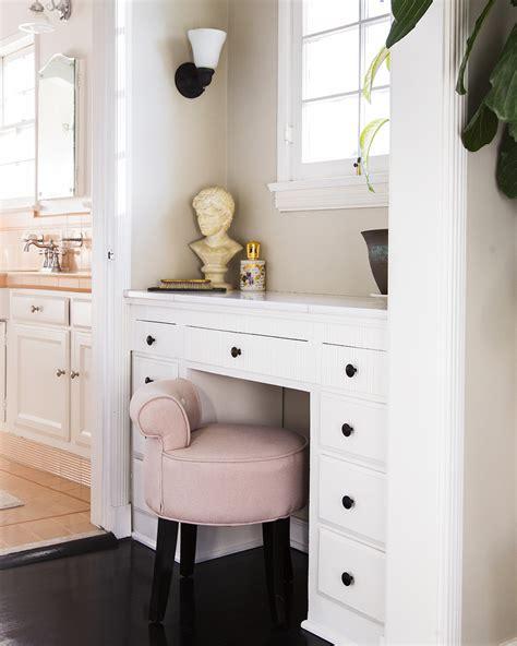 bathroom makeup vanity height vanity stool photos design ideas remodel and decor lonny