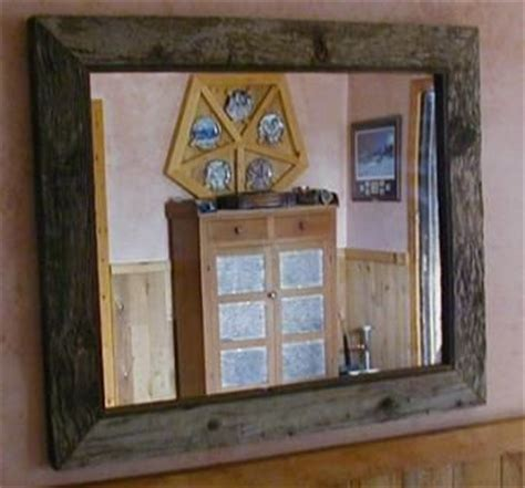 hand crafted antique barnwood mirror frame  greater