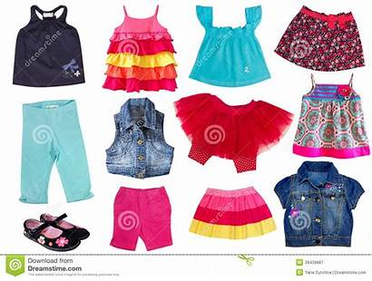 Clothes Clipart Summer Clothing Female Collage Kid