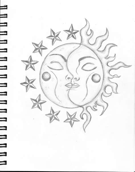 sun and moon drawings search moon in 2019