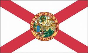 FLORIDA STATE FLAG GLOSSY POSTER PICTURE PHOTO miami