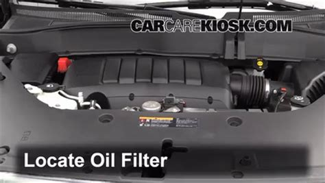 oil filter change gmc acadia    gmc