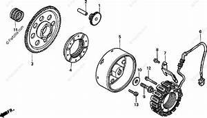 Honda Motorcycle 2000 Oem Parts Diagram For Alternator