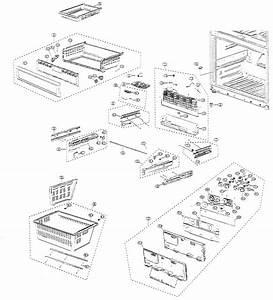 Freezer Parts Diagram  U0026 Parts List For Model Rf267abrsxaa