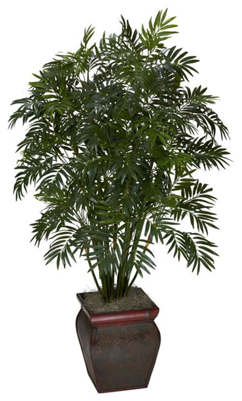 decorative pots for indoor plants mini bamboo palm with decorative vase contemporary artificial flowers plants and trees by