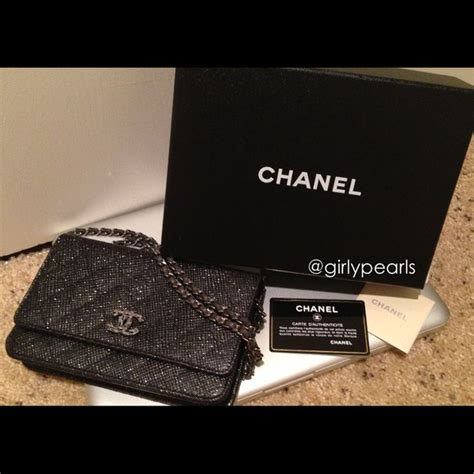 chanel limited edition chanel wallet  chain woc