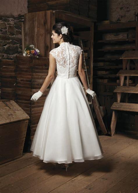 ankle wedding dress ankle length a line wedding dress sang maestro