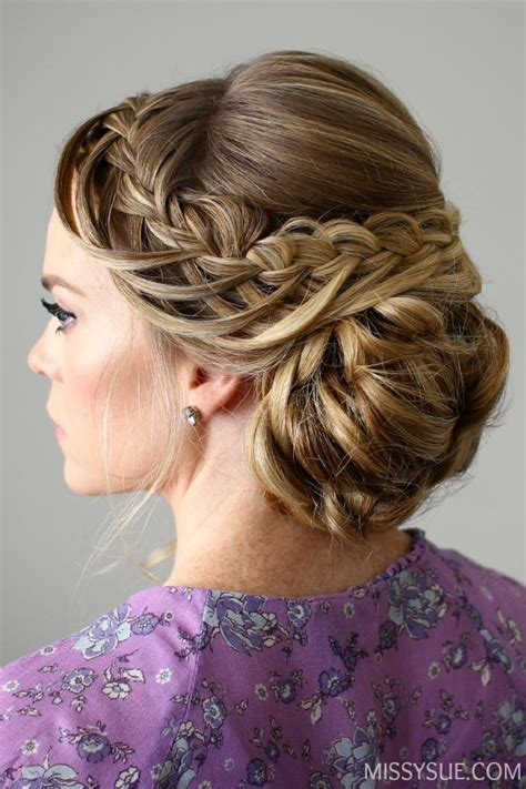 looped braid updo hair tutorials pinterest updo