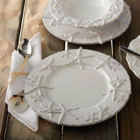 nautical starfish coastal plates dinner dinnerware sets pie fish plate mud decor star dishes beach collection perfect sea designs table