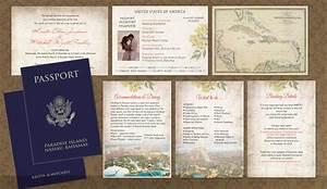 diy passport wedding invitations template invitation With passport wedding program template