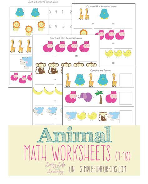 animal math worksheets  images math