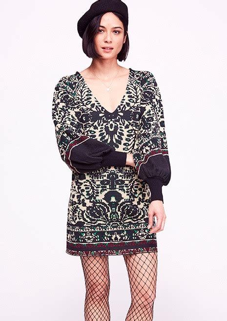 people   lyrics sweater mini dress black