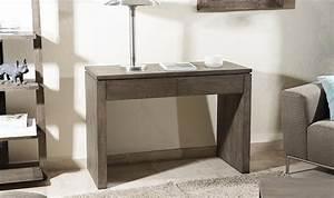 Console En Bois : petite console en bois massif 2 tiroirs ~ Teatrodelosmanantiales.com Idées de Décoration