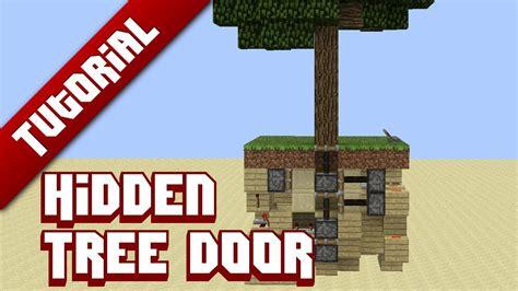 how to make a secret door in minecraft pe minecraft tutorial tree door