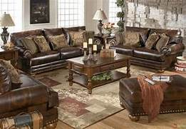 Living Room Set Furniture by Traditional Brown Bonded Leather Sofa Loveseat Living Room Set Pillows NailHeads