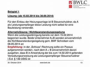 Paragraph 13b Rechnung Schreiben : ppt 13b ustg ein paragraph im wandel powerpoint ~ Themetempest.com Abrechnung