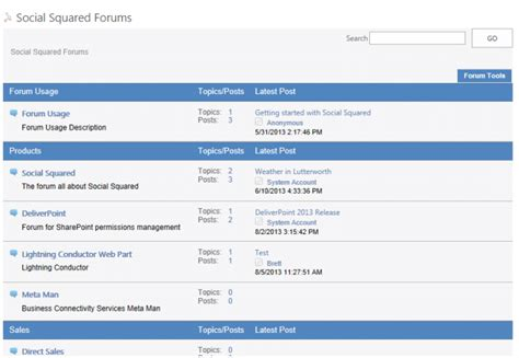 social squared sharepoint discussion forum web part