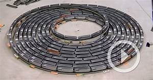 A hypnotic infinite model train loop that travels rapidly for A hypnotic infinite model train loop that travels rapidly in either direction