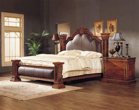 luxury classical king size wooden bedroom set product
