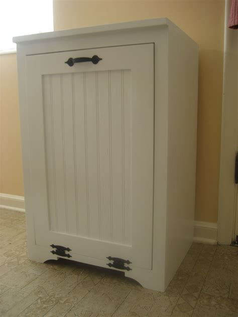 Kitchen Garbage Cans Sale by Tilt Out Wood Trash Can Cabinet Do It Yourself Home
