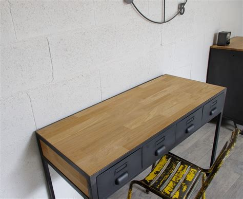 bureau acier bureau industriel à tiroirs en métal fabrication française