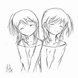 Twin Twins Sketch Template Coloring Templates sketch template