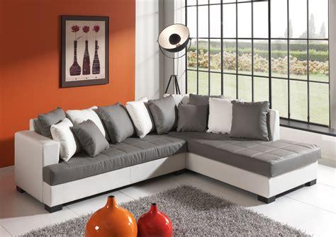 canapé d angle convertible gris et blanc canapé d 39 angle gris et blanc convertible