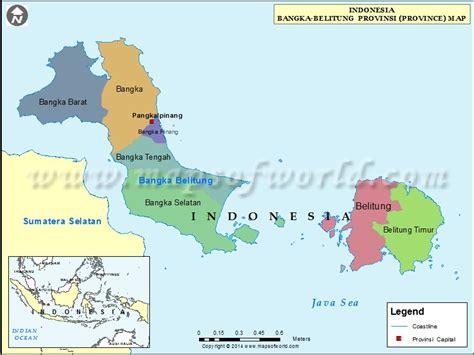 bangka belitung map map  bangka belitung province