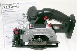 New Craftsman Sears 19 2 Volt Laser Trim Saw Circular Saw