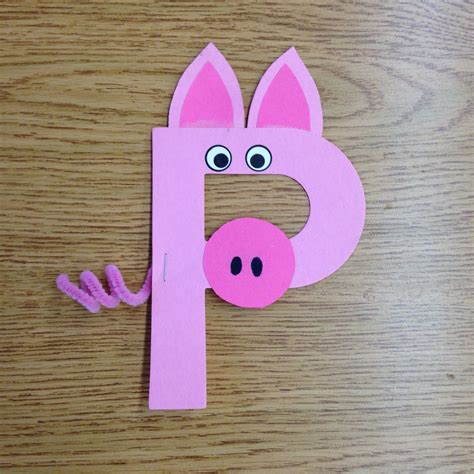 letter p preschool crafts p is for pig craft alphabet crafts 618