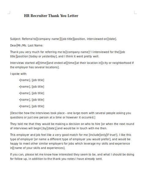 sample recruiter   letter  sample
