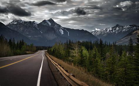 Jasper Alberta Canada Canadian Rockies Mountain Road