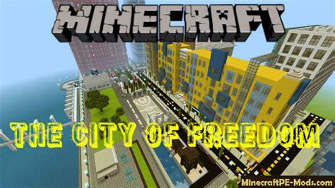 city  freedom minecraft pe bedrock map