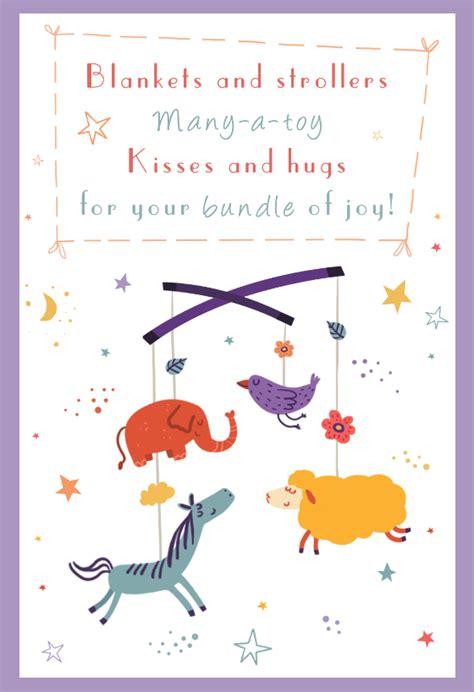 buddle  joy baby shower  baby card