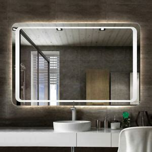 Bathroom Mirror Lights Led by Illuminated Bathroom Mirror Led Light Demister Pad Motion